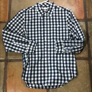 Nordstrom's Tucker + Tate blue checked shirt L boy